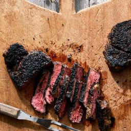 Strip Steaks with Coffee Cumin Rub
