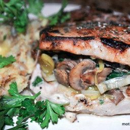 Stuff it! Mushroom and Spinach Stuffed Pork Chops