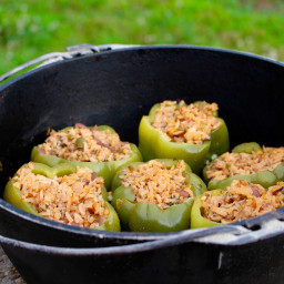Stuffed Bell Peppers- a perfect camping meal