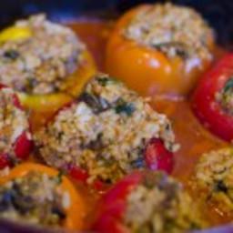 Stuffed Bell Peppers (Vegan)