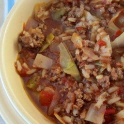 Stuffed Cabbage (Golupki)  Soup