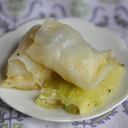 Stuffed Cabbage Leaves with Maltese Cheese (Kabocci Mimlijin bil-gbejniet)