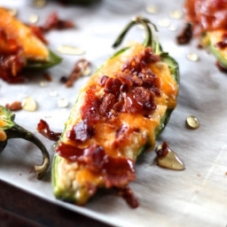 Stuffed Jalapeños with Bacon and Cheddar