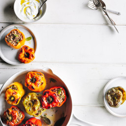 Stuffed Peppers with Lamb and Mint