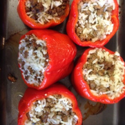 Stuffed Red Bell Pepper