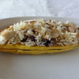 Stuffed Small Squashes with American Rice Pilaf
