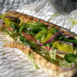 Subway Veggie Delight Sandwich (healthy, meatless)