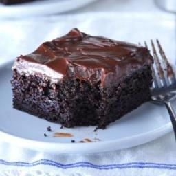 German Chocolate Cake With Warm Glazed Frosting