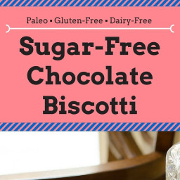 Sugar-Free Chocolate Biscotti Recipe [Paleo, Gluten-Free, Dairy-Free]