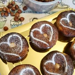 sugar free low carb hazelnut muffins