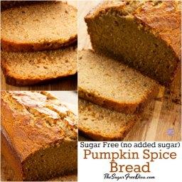 Sugar Free Pumpkin Spice Bread
