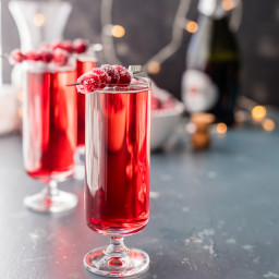 Sugared Cranberry Ginger Mimosas