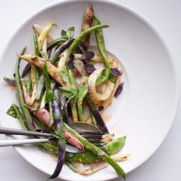 Summer Bean Salad with Roasted Garlic Vinaigrette
