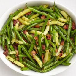 Summer Beans with Bacon Dressing