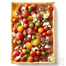Summer Cherry Tomato And Olive Tart