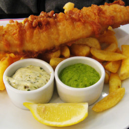 summer crispy fish and chips