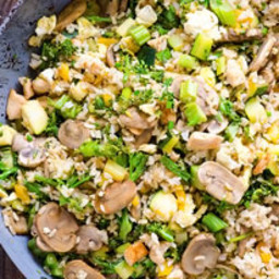 Summer Fried Brown Rice