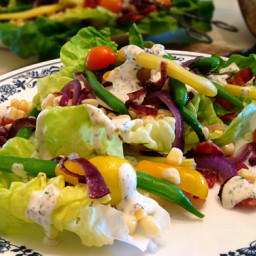 Summer Garden Salad with Lemon Dill Dressing