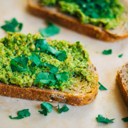 Summer Garlic Scape Pesto