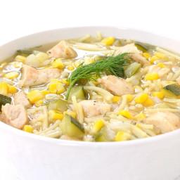 Summer Grilled Chicken Soup
