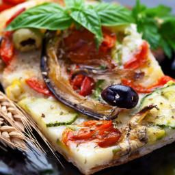 Summer Grilled Vegetable Pizza