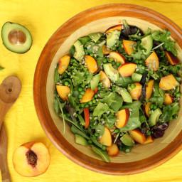 Summer Pea Peach Salad