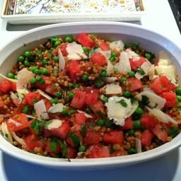 Summer Pea, Watermelon and Farro Salad