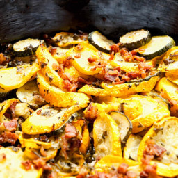 Summer Squash and Bacon Bits Recipe