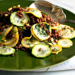 Summer Squash and Red Rice Salad With Lemon and Dill