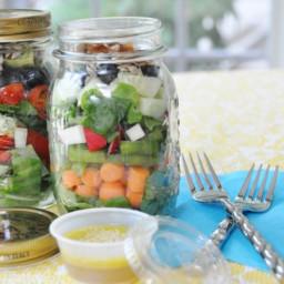 Summer Sunshine Salad in a Mason Jar