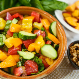 Summer Tomato and Peach Salad