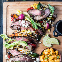 Summer Veggie Grilled Steak Tacos