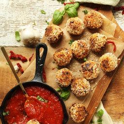 Sun-dried Tomato and Basil Arancini (Vegan)