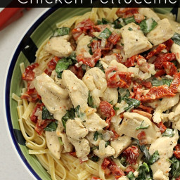 Sun Dried Tomato and Basil Chicken Fettuccine