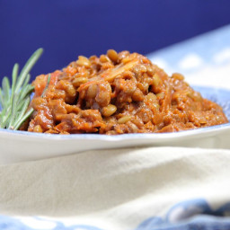 Sun-dried Tomato and Lentil Bolognese