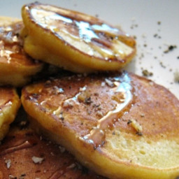 Sunday Brunch: Cornmeal Pancakes with Honey, Salt and Cracked Black Pepper