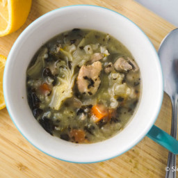 Sunday Slow Cooker: Lemon Chicken Artichoke Soup