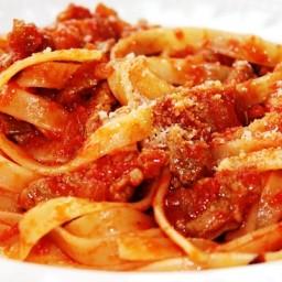 Sunday Pasta®:Tagliatelle con Ragú di Agnello (Lamb)