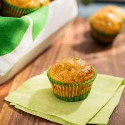 Sunny's Easy Bacon and Cheese Stuffed Corn Muffins with Jalapeno Jelly Glaz
