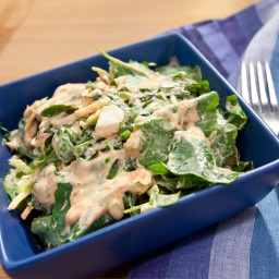 Sunny's Grilled Chicken and Kale Salad with Sunny's Creamy Equal-Parts Ha