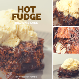 Super Chocolate Hot Fudge Brownie Cake