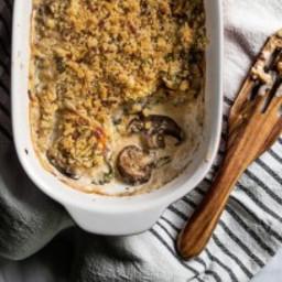 Super Creamy Stuffed Mushroom Casserole! {Low Carb and Gluten Free}