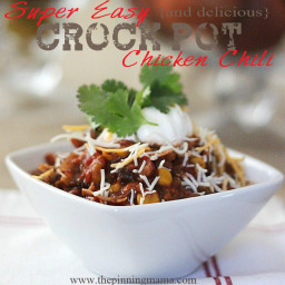 Super Easy {and delicious} Crock Pot Chicken Chili Recipe