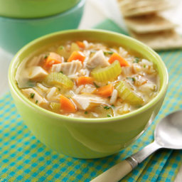 Super Easy Chicken and Rice Soup