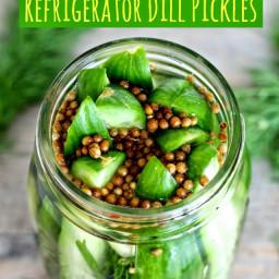 Super Easy Refrigerator Dill Pickles