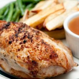 Super Easy Rotisserie Style Crockpot Chicken