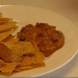 Super Fast Mexican Meat and Cheese Dip