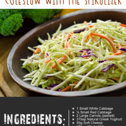 Super Healthy Clean Eating Coleslaw With The Spiralizer