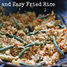 Super Quick and Easy Vegetable Fried Rice