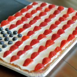 Super Simple American Flag Sugar Cookie Cake
